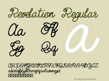 Revelation Regular Version 1.000;PS 001.000;hotconv 1.0.70;makeotf.lib2.5.58329图片样张