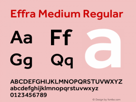 Effra Medium Regular Version 1.000 Font Sample