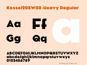 Kessel205W00-Heavy Regular Version 1.00 Font Sample