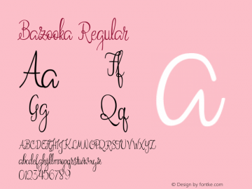 Bazooka Regular Version 1.000 Font Sample