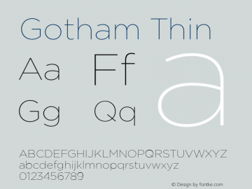 Gotham Thin Version 1.200图片样张