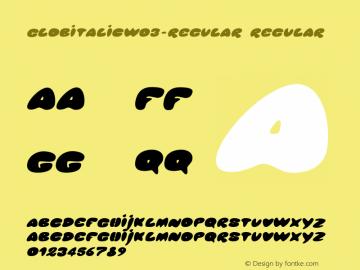 GlobItalicW03-Regular Regular Version 1.00图片样张