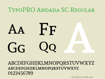 TypoPRO Andada SC Regular Version 1.003图片样张