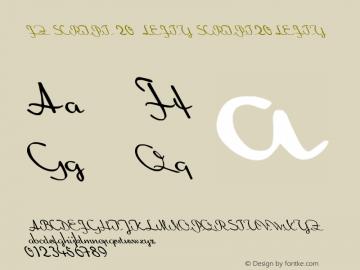 FZ SCRIPT 20 LEFTY SCRIPT20LEFTY Version 1.000 Font Sample