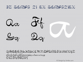 FZ SCRIPT 21 EX SCRIPT21EX Version 1.000 Font Sample