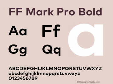FF Mark Pro Bold Version 7.504; 2013; Build 1024 Font Sample
