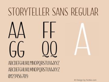 Storyteller Sans Regular Version 1.000;PS 001.000;hotconv 1.0.88;makeotf.lib2.5.64775 Font Sample