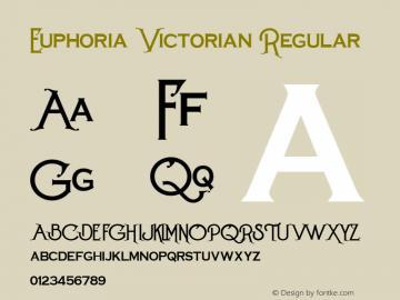 Euphoria Victorian Font,Euphoria Victorian Regular Font