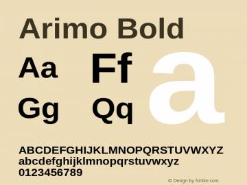 Arimo Bold Version 1.32 Font Sample