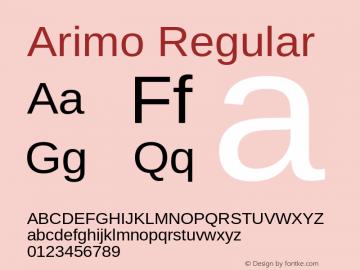 Arimo Regular Version 1.32 Font Sample