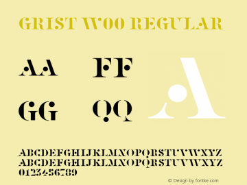 Grist W00 Regular Version 1.00 Font Sample