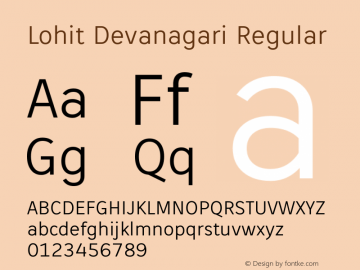 Lohit Devanagari Regular 2.95.2 Font Sample