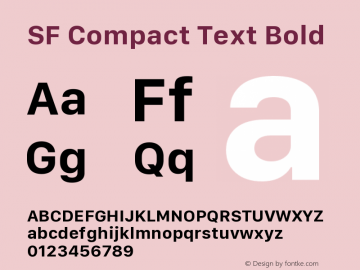 SF Compact Text Bold 11.0d10e2图片样张