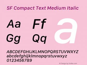 SF Compact Text Medium Italic 11.0d10e2 Font Sample