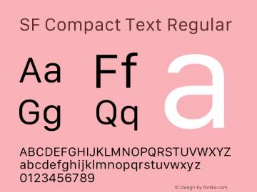 SF Compact Text Regular 11.0d10e2 Font Sample