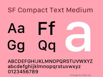 SF Compact Text Medium 11.0d10e2 Font Sample