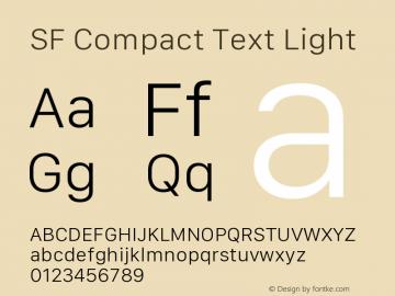 SF Compact Text Light 11.0d10e2 Font Sample