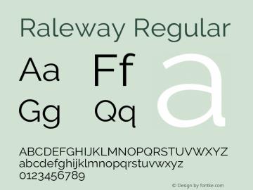 Raleway Regular Version 3.000g; ttfautohint (v1.5) -l 8 -r 28 -G 28 -x 14 -D latn -f cyrl -w G -c -X