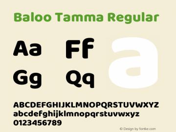 Baloo Tamma Regular Version 1.007;PS 1.000;hotconv 1.0.88;makeotf.lib2.5.647800图片样张