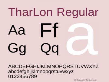 TharLon Regular Version 1.002 September 26, 2012图片样张