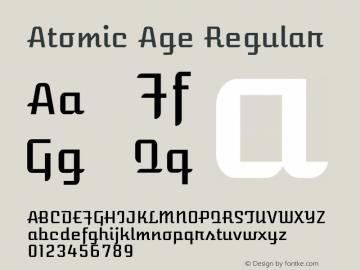 Atomic Age Regular Version 1.007; ttfautohint (v1.4.1) -l 6 -r 46 -G 0 -x 0 -H 200 -D latn -f none -m