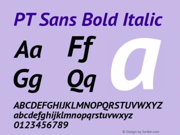PT Sans Bold Italic Version 2.003W OFL Font Sample