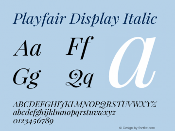 Playfair Display Italic Version 1.004;PS 001.004;hotconv 1.0.70;makeotf.lib2.5.58329; ttfautohint (v0.96) -l 42 -r 42 -G 200 -x 14 -w