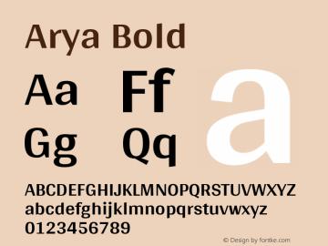 Arya Bold Version 1.001图片样张