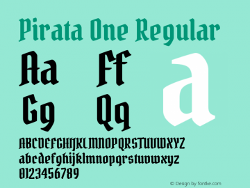 Pirata One Regular Version 1.001图片样张