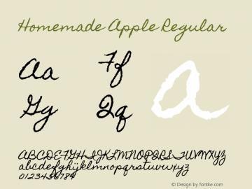 Homemade Apple Regular Version 1.000 Font Sample