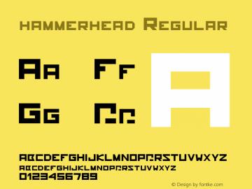 hammerhead Regular Version 1.000;PS 001.001;hotconv 1.0.56图片样张