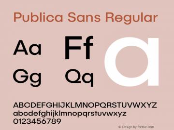 Publica Sans Regular Version 1.000;PS 001.000;hotconv 1.0.88;makeotf.lib2.5.64775;com.myfonts.easy.facetype.publica-sans.regular.wfkit2.version.4A5i图片样张