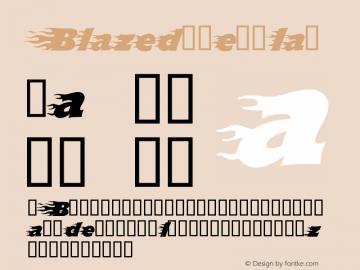 Blazed Regular 1.0 Font Sample