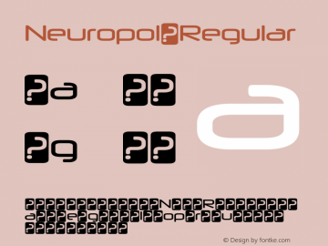 Neuropol Font,Neuropol-Regular Font Neuropol-Regular Version 3 000