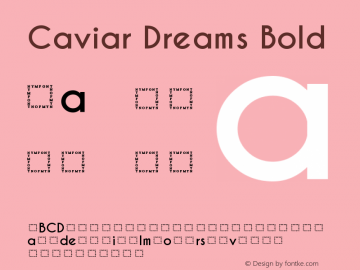 Caviar Dreams Bold Version 5.00 June 15, 2014 Font Sample