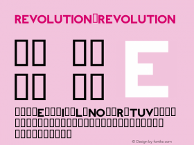 REVOLUTION REVOLUTION Unknown Font Sample