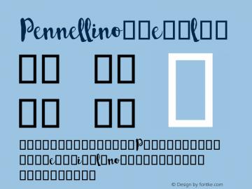 Pennellino Regular Version 1.000 Font Sample