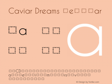 Caviar Dreams Regular Version 5.00 June 15, 2014 Font Sample