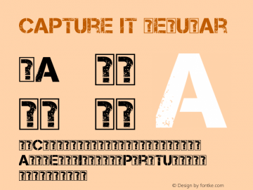 Capture it Regular Version 1.7 October 31, 2012 Font Sample