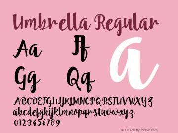 Umbrella Regular 001.000 Font Sample