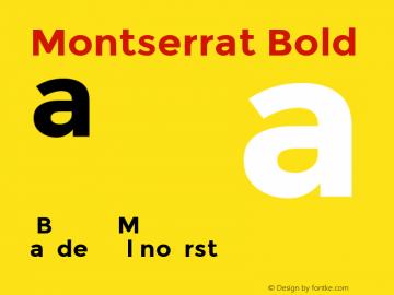 Montserrat Bold Version 2.001图片样张