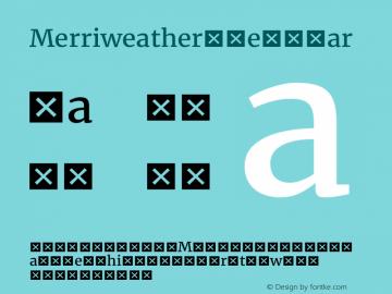 Merriweather Regular Version 1.584; ttfautohint (v1.5) -l 6 -r 36 -G 0 -x 10 -H 350 -D latn -f cyrl -w