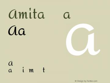 Amita Regular Version 1.003图片样张