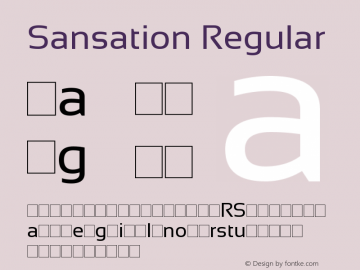 Sansation Regular Version 1.301 Font Sample
