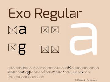 Exo Regular Version 1 Font Sample