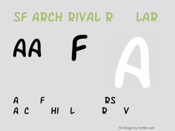SF Arch Rival Regular ver 1.0; 2000. Freeware. Font Sample