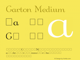 Garton Medium 001.000 Font Sample
