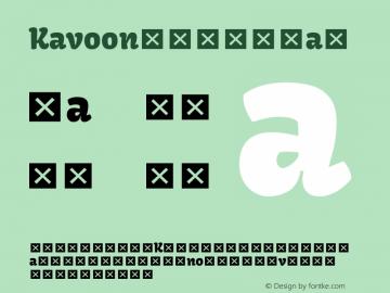 Kavoon Regular Version 1.004; ttfautohint (v1.4.1) Font Sample