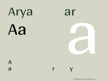 Arya Regular Version 1.001图片样张