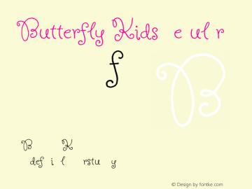 Butterfly Kids Regular Version 1.000 Font Sample